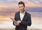 Business man using tablet — Foto de Stock