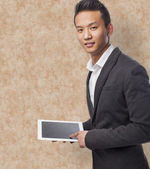 Business man using tablet — Foto Stock