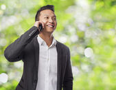 Man talking on mobile — Foto Stock