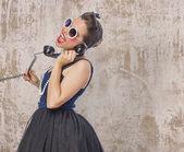 žena na telefonu — Stock fotografie