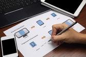 Dataflow chart concept web design — Stock Photo
