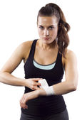 Female MMA Fighter — Stock Photo