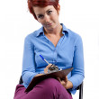 Woman with Clipboard — Stock Photo #47607163