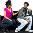 Fighting Couple — Stock Photo