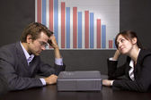 Business Team with Graph — Stock Photo