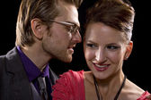 Charming Whispers — Stock Photo