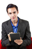 Browsing with Tablet — Stock Photo