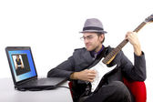 Serenading Online — Stock Photo