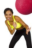 Female dodgeball player — Stok fotoğraf