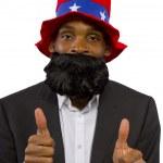 Black man playing American Mascot — Stock Photo #49303223