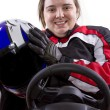 Постер, плакат: Female race car driver