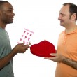 Gay lovers on Valentines Day — Stock Photo #49308869