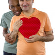 Gay lovers on Valentines Day — Stock Photo #49308891