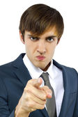 Young angry businessman — Stock Photo