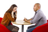 Un-romantic meeting — Stock Photo