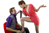 Man being seduced — Stock Photo