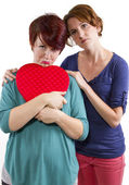 Consoling friend — Stock Photo