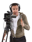 Video camera operator — Stock Photo