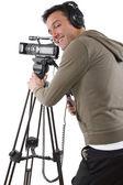 Operatore di ripresa con treppiede — Foto Stock