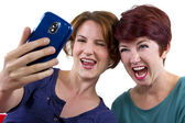 Women taking self portraits — Stock Photo