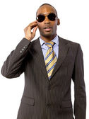 African American spy — Stock Photo