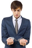 Man arrested for tax evasion — Stock Photo