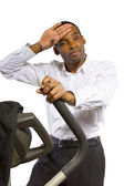 Businessman working out — Stock Photo
