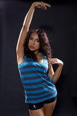 Latina woman dancing — Stock Photo