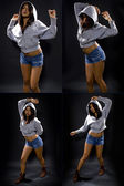 Latina female dancing to hip hop — Stock Photo
