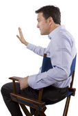 Casting director gesturing — Stock Photo