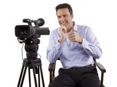 Casting director showing thumb up — Stock Photo