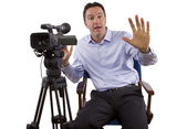 Casting director with camera — Stock Photo