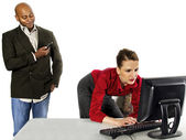 Sexual Harassment at Work — Stock Photo