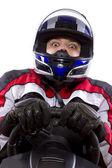 Female race car driver — Stock Photo