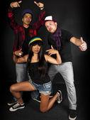 Hip hop crew — Stock Photo