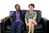 Crush between black male and white female — Stock Photo