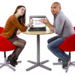 Couple matched up via online dating — Stock Photo #49314989