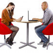 Couple matched up via online dating — Stock Photo #49314997