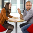 Rude couple on bad date — Stockfoto #49318093