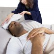 Female taking care of sick boyfriend — Stock Photo #49318347