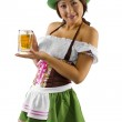 Asian waitress with beer — Stock Photo #49319051