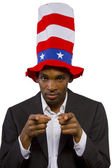 "Man playing as ""Uncle Sam"" American Mascot — Foto Stock"