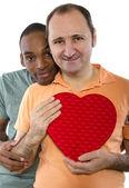 Amantes de la pareja el día de san valentín — Foto de Stock
