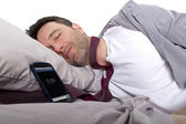 Tardy employee unable to wake up in time to get to work — Stock Photo