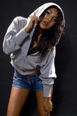 Latina hip hop dancer — Stock Photo