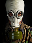 Soldier in a nuclear apocalypse — Stock Photo