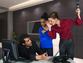 Blame the guy in the office — Stock Photo