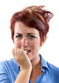 Redhead woman with facial expression — Stock Photo