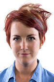 Young redhead woman — Stock Photo