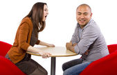 Rude couple on bad date — Stock Photo